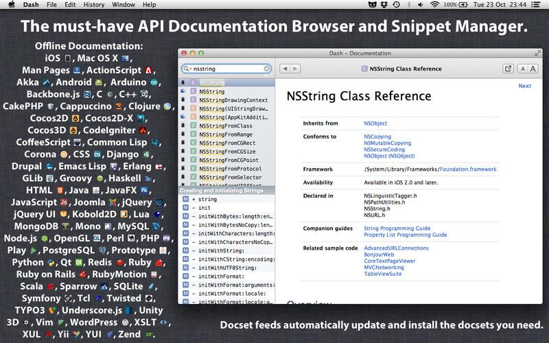 Dash支持的文档